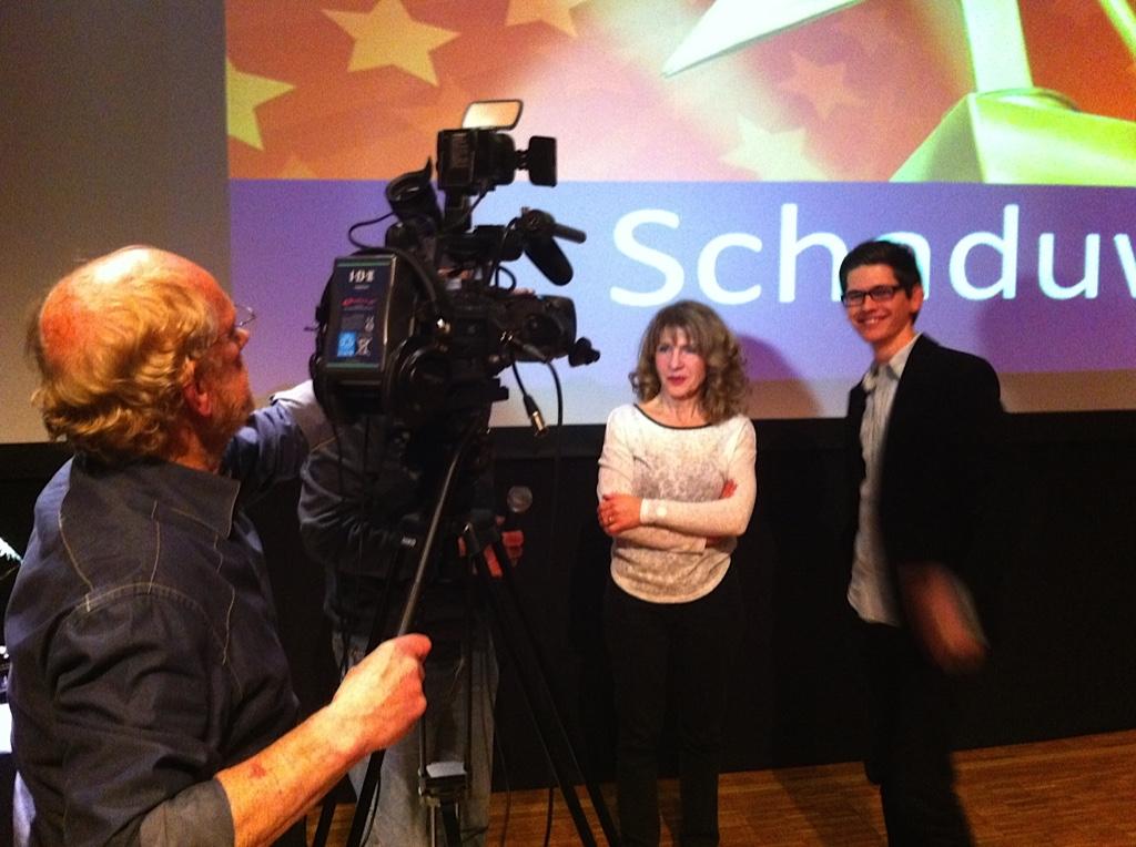 Schaduwspel's regisseur Joep Lommerse en scenarioschrijver/productieleider Marya Hüsstege.